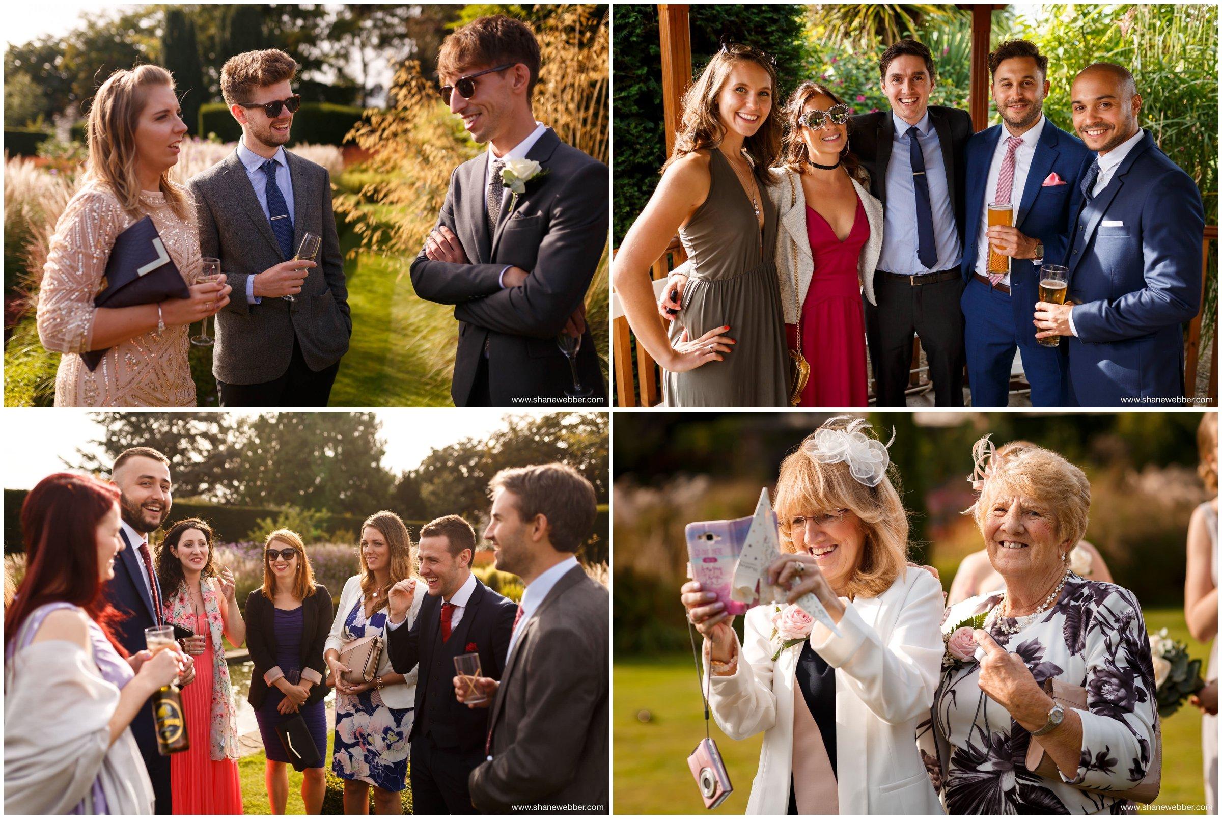 Guests enjoying Abbeywood wedding reception
