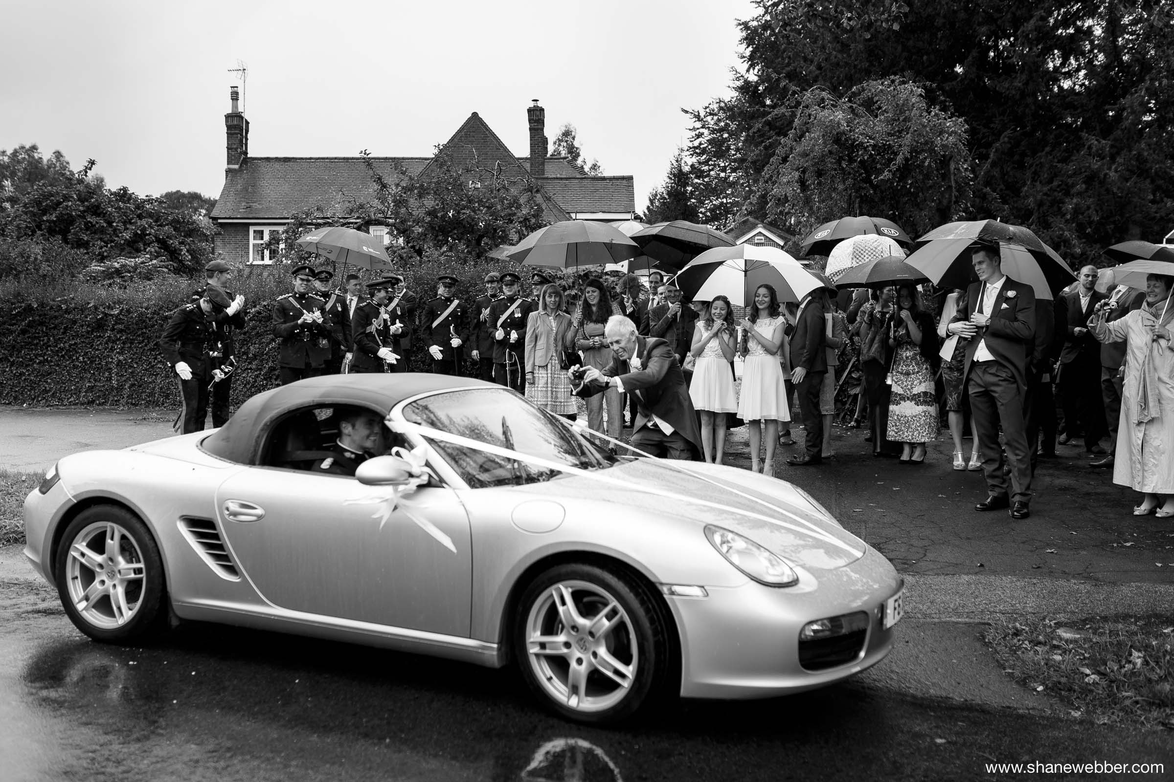 Porche wedding car