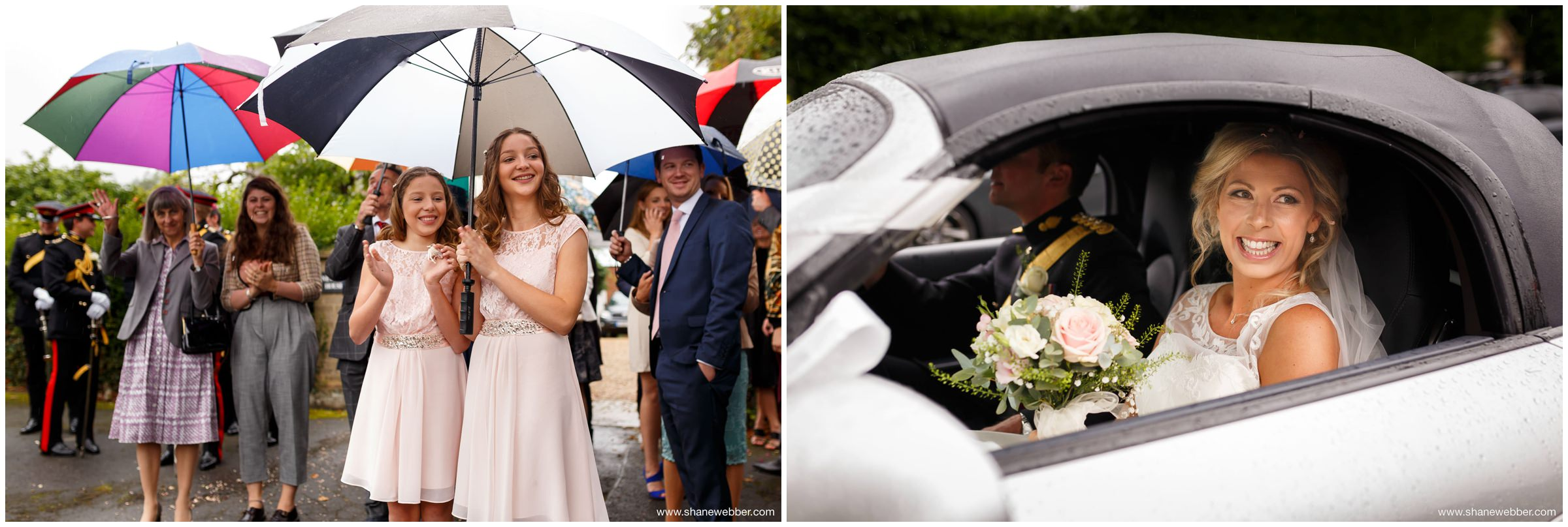 Rainy wedding pictures