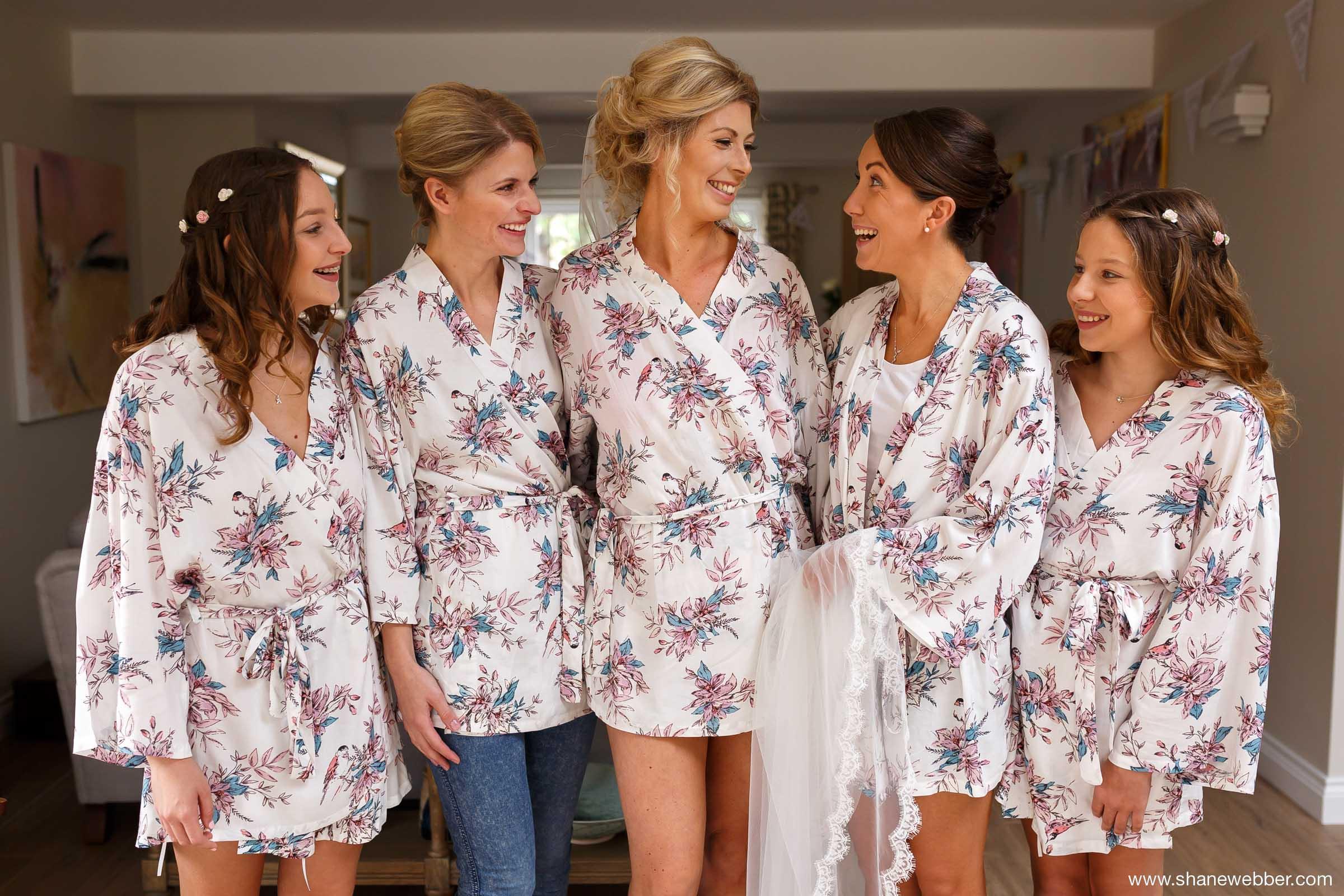 matching silk wedding dressing gowns