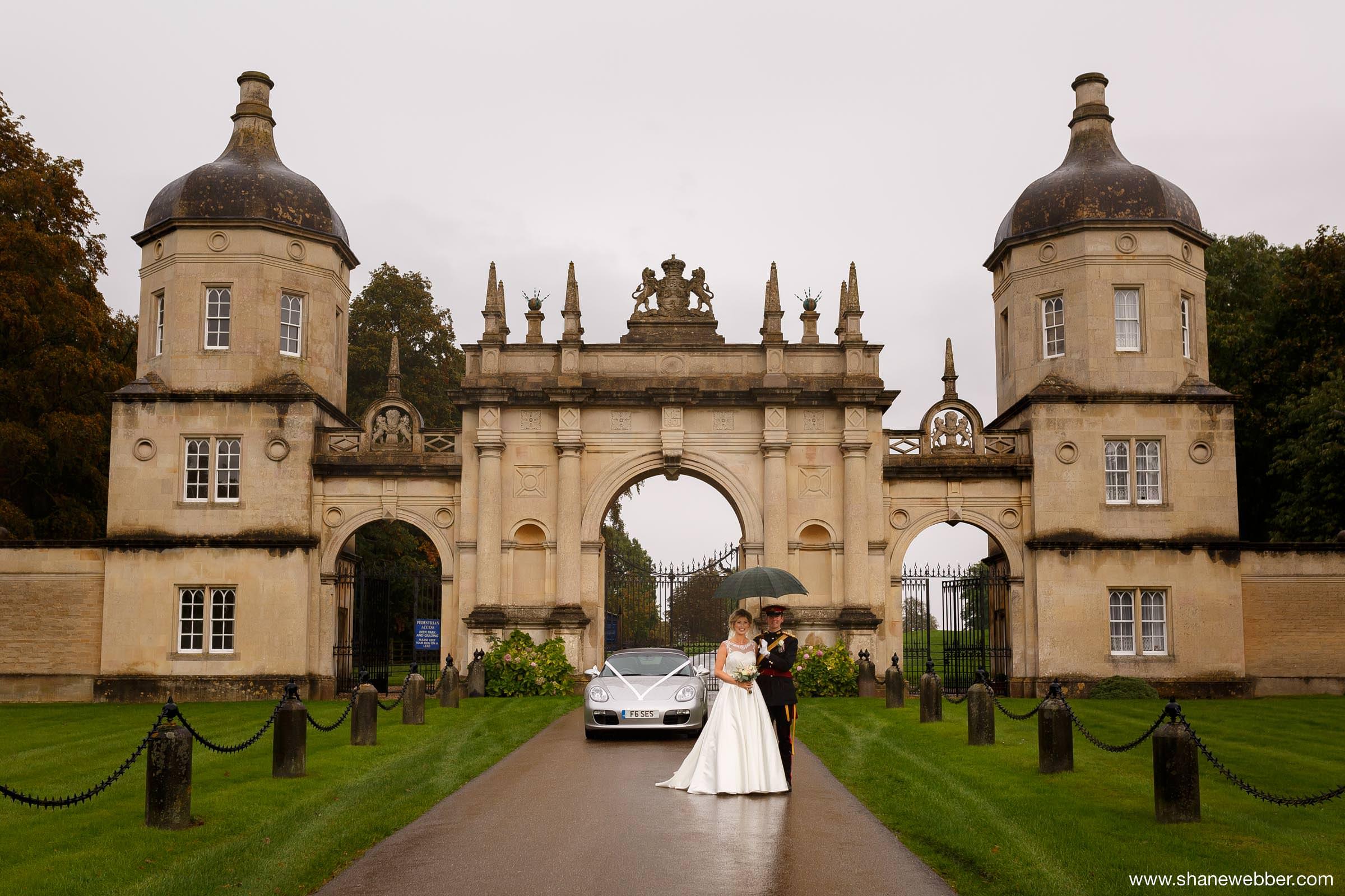Burghley House gates