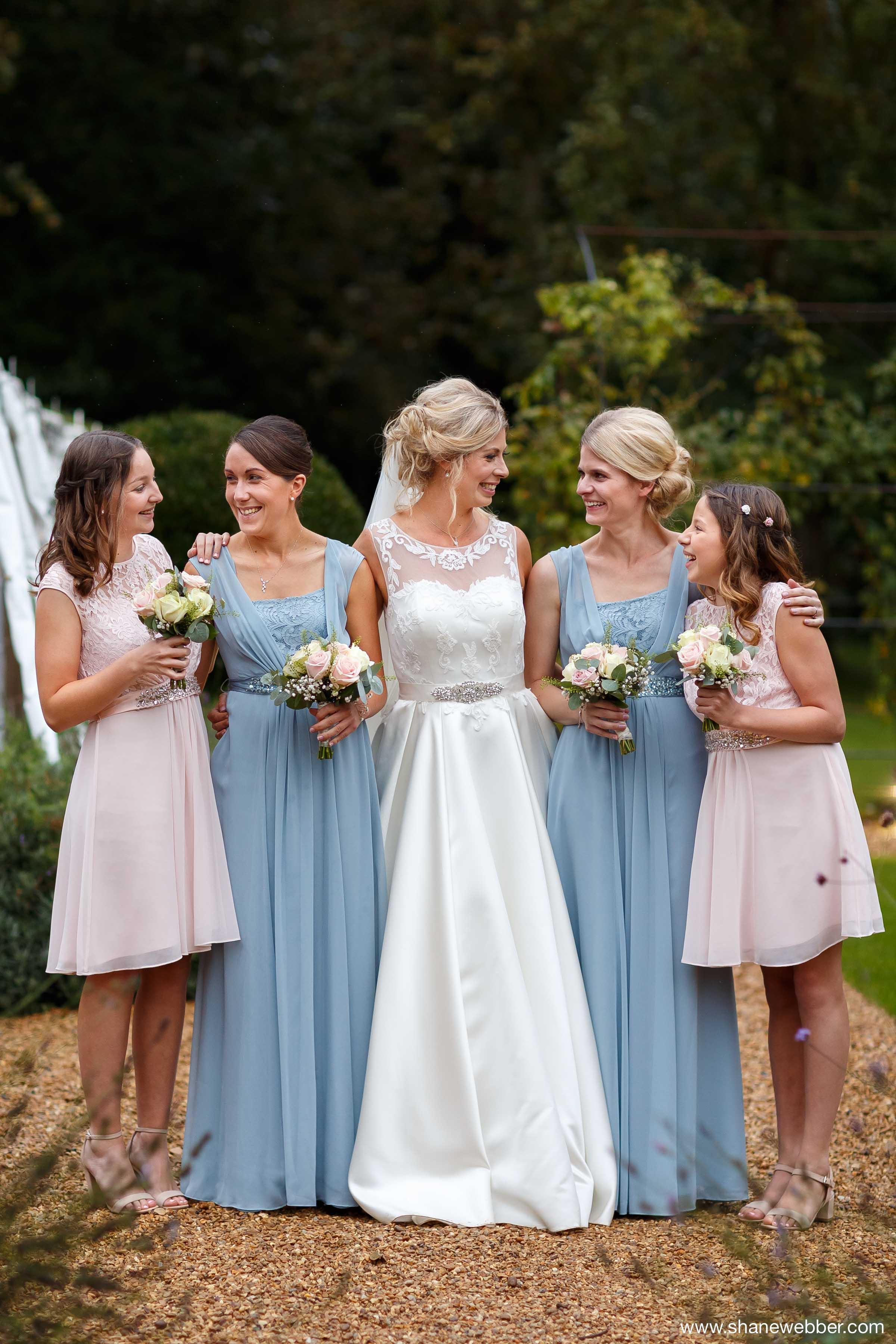 pastel blue bridesmaid dresses